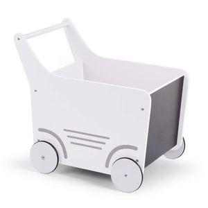 CHILDHOME Holz-Spielzeugwagen Weiß WODSTRW