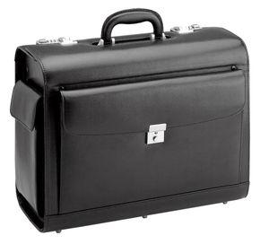 D&N Business & Travel Pilotenkoffer Leder 41 cm schwarz