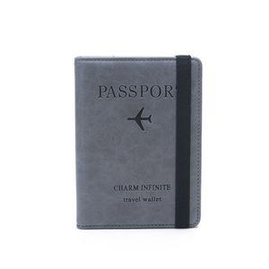Kunstleder Reisepass-Hülle mit RFID Schutz - Reisepass-Etui und Reisebrieftasche