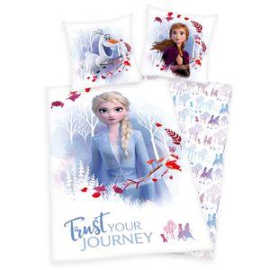 Disney Eiskönigin 2 Bettwäsche 135x200 + 80x80 cm Baumwolle Wendebettwäsche Elsa & Anna 2 teilig