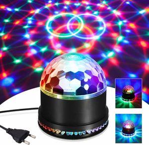LED Discokugel 51LEDs 12W 7 Farben Discolampe Partyleuchte RGB Lichteffekt Bühnenbeleuchtung Party Licht Deko [Energieklasse A]