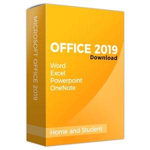 Microsoft Office 2019 Home & Student - KEY  lifetime Update - Download - Datei + Schlüssel (Kein USB CD oder DVD)