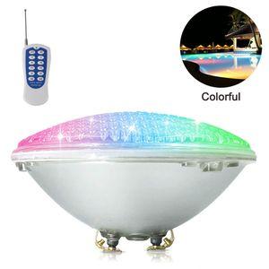 LED Poolbeleuchtung, 18W PAR56 RGB Schwimmbadleuchte. Unterwasserscheinwerfer mit Fernbedienung Poolbeleuchtung, 12V AC/DC IP68 Wasserdicht Pool Lampe