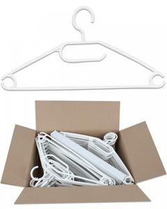 50 Stück Kunststoff Antirutsch Kleiderbügel Drehbare Haken Schwarz oder Weiss, Farbe:Weiss