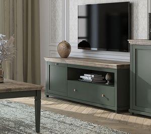 Lowboard TV-Schrank Fernsehtisch 181cm grün eiche lefkas Landhaus