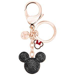 Swarovski Handtaschen Charm 5435473 Mickey, schwarz, rot, roségold Metall