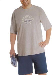Pyjama Schlafanzug Übergrösse , Farbe:Grau, Gr. :60, Style:Kurz
