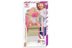 Eichhorn Puppenhochstuhl mit Tisch