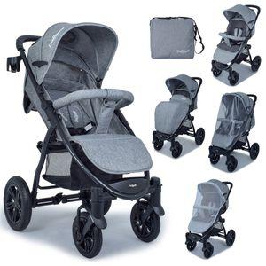 Daliya® Variyo Buggy - Set 2 / Jogger / Kinderwagen mit Fußsack, Wickeltasche, Regenverdeck, Insektennetz, Sitzeinlage