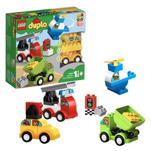 LEGO 10886 DUPLO Meine ersten Fahrzeuge, Bausteine, Spielzeug ab 1,5 Jahre, Motorikspielzeug mit LKW, Hubschrauber und anderen Fahrzeugen