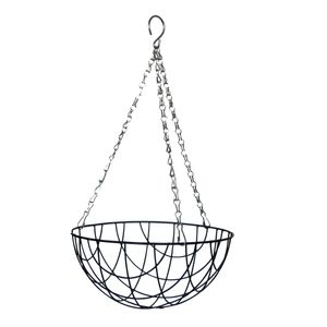 Esschert Design Hanging Basket Metallkorb Ø 25 cm mit Kette
