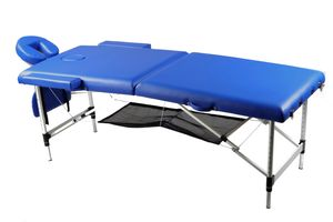Massageliege Aluminium mobile Massagebank klappbar höhenverstellbar Tragetasche mit Rollen
