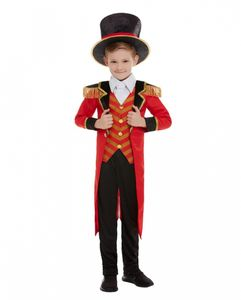 Zirkusdirektor Deluxe Kinderkostüm für Karneval und Halloween Größe: L