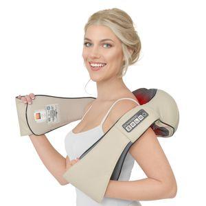 Donnerberg® DAS ORIGINAL Massagegerät für Nacken Schultern Rücken Shiatsu Nackenmassagegerät mit Vibration und Wärme 4D-Rotation Massage