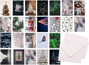 48x Weihnachten Geschenkkarten mit Briefumschlägen Umschlag - Grußkarten - Karten - Postkarten - Weihnachtskarten moderne Designs mit Umschlägen