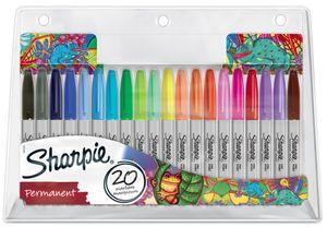 """Sharpie Permanent-Marker FINE 20er BIG PACK """"Chamäleon"""""""