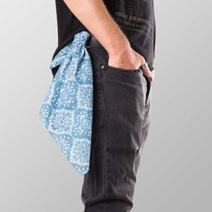 Bandana Halstuch  Blau Paisley 55 cm x 55 cm