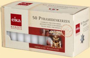 Kerzendekoration 16 Packungen mit 50 Pyramidenkerzen weiß HxBxT = 7x15x7cm NEU
