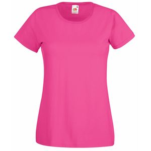 Fruit Of The Loom Lady-Fit Damen T-Shirt BC1354 (XL) (Fuchsie)