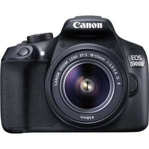 Canon EOS 1300D, 18 MP, 5184 x 3456 Pixel, CMOS, Full HD, 485 g, Schwarz