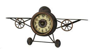 Wand-Uhr Flugzeug und Kompass 30 x 61 cm