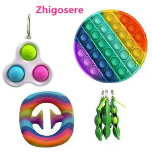 6 Stück / Set POP IT! Zappeln Sensorisches Spielzeugset Stressabbau Spielzeug Autismus Angst Zappeln Spielzeug Für Kinder Erwachsene