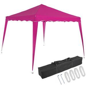 Pavillon oder Seitenwand 3x3m UV-Schutz 50+ wasserdicht faltbar inkl. Tasche Faltpavillon Zubehör Pop Up Zelt Capri, Farbe:pink