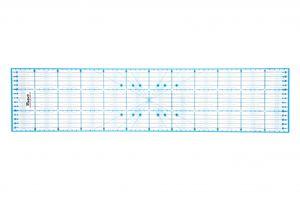 Victor transparentes Lineal 15x60cm in Blau zum Naehen, Basteln, Patchwork und Quilting - Naehlineal