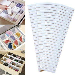 4 PCS Schubladeneinteiler Schubladenteiler Schubladenraster Fachteiler Zuschneidbar Schubladentrenner Schubladeneinsatz