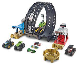 Hot Wheels Monster Trucks Looping-Challenge Spielset inkl. 2 Spielzeugautos