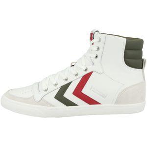 hummel Slimmer Stadil Duo High Leather Sneaker Erwachsene weiß / grün 43 EU - 9 UK - 10 US