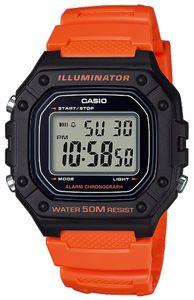 Casio Collecion Digital Armbanduhr W-218H-4B2VEF orange schwarz