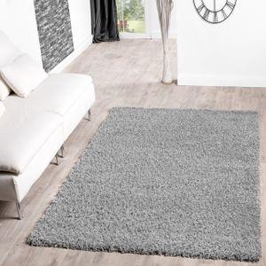 Shaggy Teppich Hochflor Langflor Teppiche Wohnzimmer Preishammer versch. Farben, Farbe:grau, Größe:80x150 cm