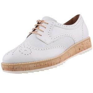 TAMARIS Damen Plateau-Schnürschuhe Weiß, Schuhgröße:EUR 40