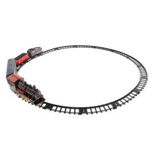 Eisenbahn Set Mini Zug Schienen Elektrische Eisenbahn Fahrzeug Zug, mit LED-Licht Sound