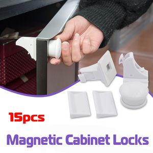 15PCS Magnetschrank Schubladenschrankschlösser für Baby Kids Safety Kindersicherung