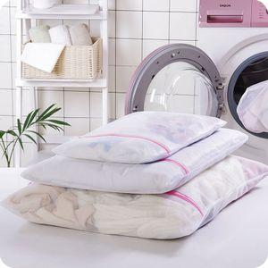 10 rechteckige feinmaschige Wäschesäcke S / M / L schützen Ihre Kleidung sorgfältig