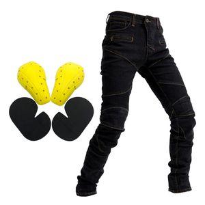 Motorrad Reit Herren Jeans Fly Racing Resistance Pants Schwarz L