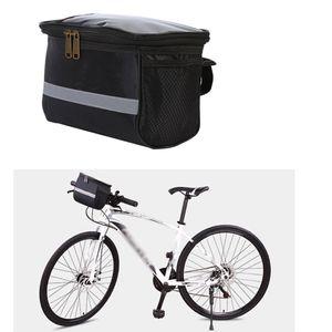 Fahrradlenker Tasche Vordere Aufbewahrungstasche Outdoor-Fahrradtasche Wasserdicht Schwarz 18x10x15cm Korbtasche Lenkertasche