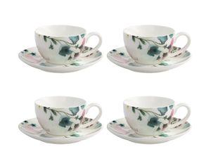 4er Set Espressotassen PRIMAVERA Blumen bunt weiß 100ml Maxwell & Williams