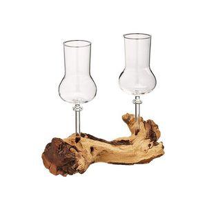 Schnapsgläser / Grappagläser edel auf Einer Wurzel aus echtem Holz. Jedes Stück EIN Unikat. Grappa Gläser / Schnapsservice / Schnapsgläser