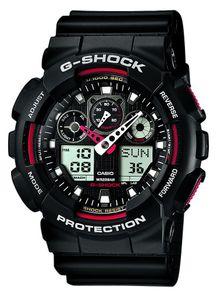 G-Shock GA 100 Uhr Black G-Shock Red, Größe: One Size