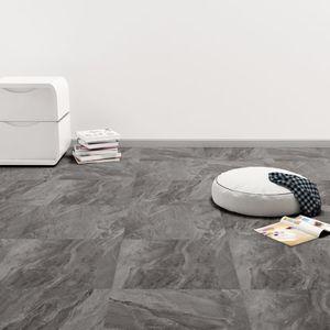 dereoir PVC Laminat Dielen Selbstklebend 5,11 m² Schwarz mit Muster