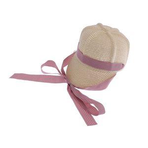 Kinder Hut Mädchen Sonnenhut Weich Stroh Sommerhut mit Band C wie beschrieben