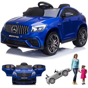 Mercedes-Benz GLC 63S AMG Coupe Kinderauto Kinderfahrzeug Kinder Elektroauto Blau