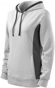 Damen stylisches Sweatshirt mit Kapuze - Weiß - L