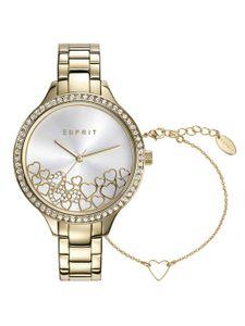 Esprit Uhr Geschenk Set Armband Damen Gold