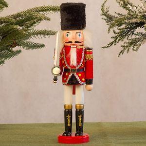 Nussknacker Soldat Marionette Weihnachten 30CM Weinkabinett Dekoration CZZ201013003BK