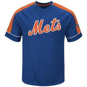 MLB New York Mets T-Shirt Lead Hitter Jersey Shirt Trikot Warm Up Baseball