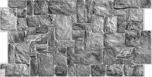 3D PVC FLIESEN Wandpaneele Wandverkleidung PVC-Verkleidung Dark Stone Wand Stein Steinimitation (0,47qm)